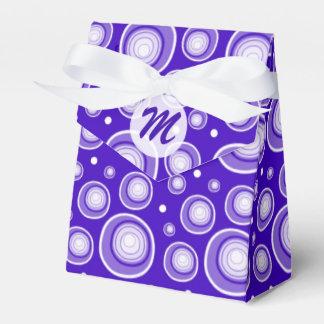 Modelo de puntos retro fresco: Púrpura Caja Para Regalo De Boda