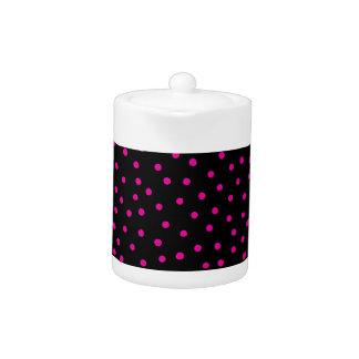 Modelo de puntos rosado y negro del confeti