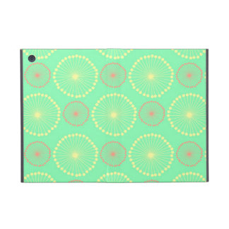 Modelo de puntos verde elegante floral femenino tr iPad mini carcasa