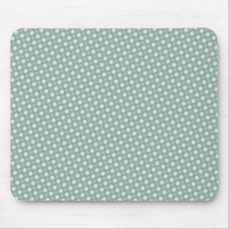 Modelo de puntos verde retro de Seafoam Sun Alfombrillas De Raton