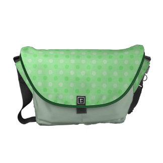 Modelo de puntos verde texturizado bolsas messenger