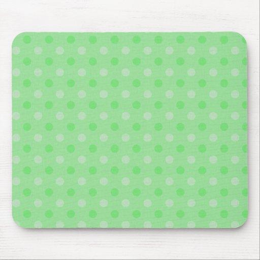 Modelo de puntos verde texturizado tapetes de ratón