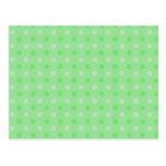 Modelo de puntos verde texturizado tarjeta postal