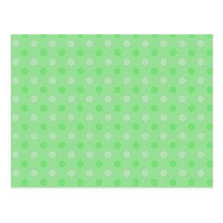 Modelo de puntos verde texturizado tarjetas postales