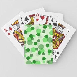 Modelo de puntos verde transparente barajas de cartas