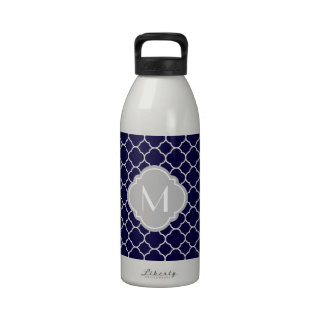 Modelo de Quatrefoil de los azules marinos con el  Botellas De Beber