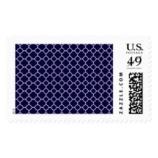 Modelo de Quatrefoil de los azules marinos Timbre Postal