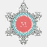 Modelo de Quatrefoil del trullo, monograma coralin