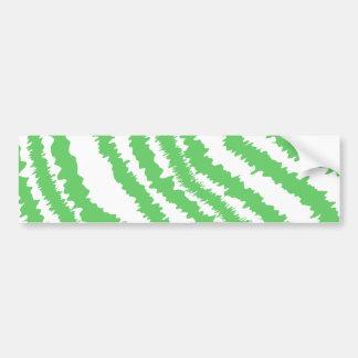 Modelo de rayas verdes onduladas pegatina de parachoque