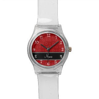 Modelo de reciclaje rojo conocido personalizado reloj de mano