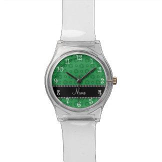 Modelo de reciclaje verde conocido personalizado reloj de mano