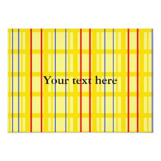 Modelo de rejilla amarillo moderno con las rayas comunicado personalizado