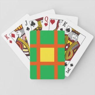 Modelo de rejilla anaranjado barajas de cartas