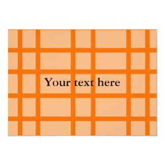 Modelo de rejilla anaranjado moderno comunicados personales