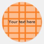 Modelo de rejilla anaranjado moderno etiquetas redondas
