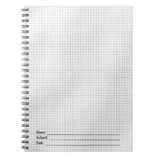 Modelo de rejilla blanco y negro en el papel libretas espirales