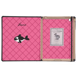 Modelo de rejilla conocido personalizado del rosa iPad protector