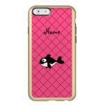Modelo de rejilla conocido personalizado del rosa funda para iPhone 6 plus incipio feather shine