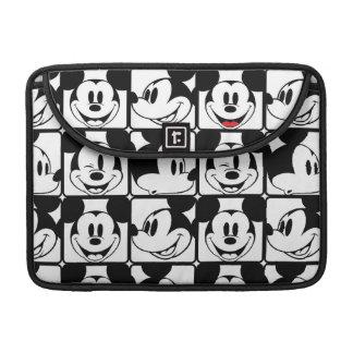 Modelo de rejilla de Mickey Mouse el   Fundas Para Macbooks