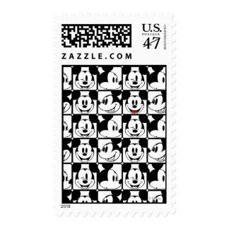 Modelo de rejilla de Mickey Mouse el | Sello Postal