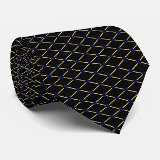 Modelo de rejilla del oro - color de fondo del corbatas