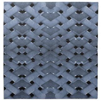 Modelo de rejilla futurista servilletas de papel