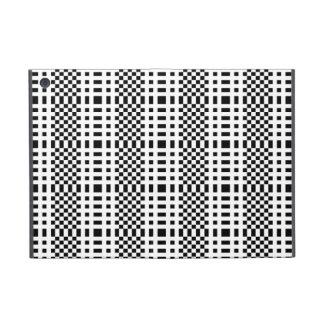 Modelo de rejilla modernista blanco y negro iPad mini protectores