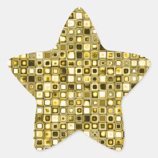 Modelo de rejilla texturizado amarillo claro de la calcomania cuadrada personalizada