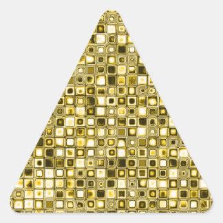 Modelo de rejilla texturizado amarillo claro de la pegatina trianguloada