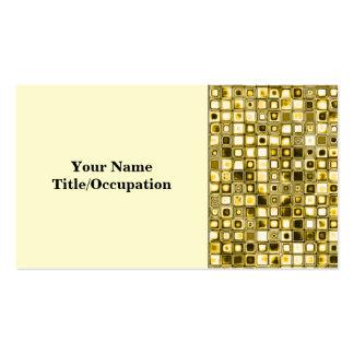 Modelo de rejilla texturizado amarillo claro de tarjetas de visita