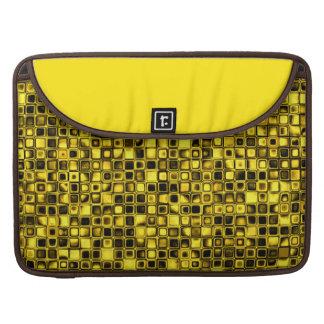 Modelo de rejilla texturizado amarillo y negro bri funda para macbooks