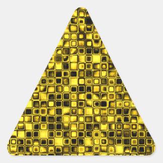 Modelo de rejilla texturizado amarillo y negro bri pegatina de trianguladas