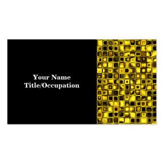 Modelo de rejilla texturizado amarillo y negro tarjetas de visita