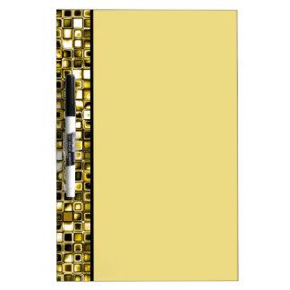 Modelo de rejilla texturizado Grunge amarillo Pizarra Blanca
