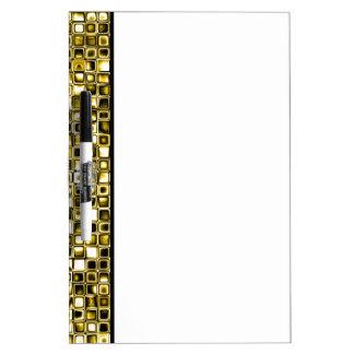 Modelo de rejilla texturizado Grunge amarillo Pizarras Blancas De Calidad