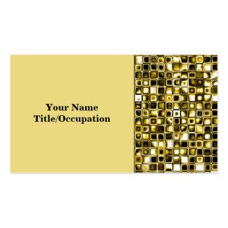 Modelo de rejilla texturizado Grunge amarillo Tarjetas De Visita