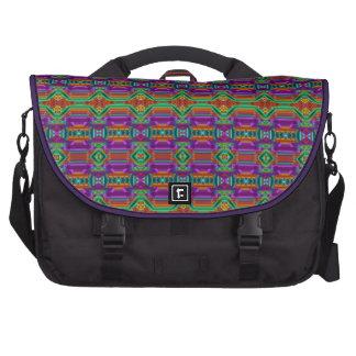 Modelo de rejilla violeta y verde. Diseño elegante Bolsas Para Portátil