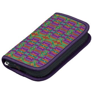 Modelo de rejilla violeta y verde. Diseño elegante Organizador
