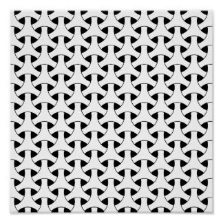 Modelo de repetición céltico geométrico moderno póster