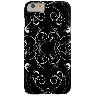 Modelo de repetición floral delicado en blanco en funda barely there iPhone 6 plus