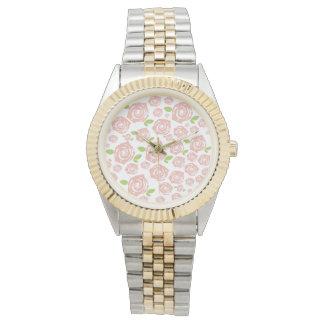 Modelo de rosa vintage relojes de pulsera
