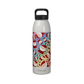 Modelo de santa del arco iris botella de beber