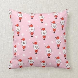 Modelo de Santa Modelo rosado del navidad Almohadas