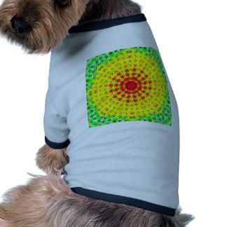 Modelo de semitono radial prenda mascota