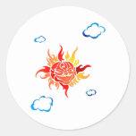 Modelo de Sun Etiquetas Redondas