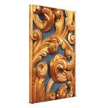 Modelo de talla de madera de oro lienzo envuelto para galerías