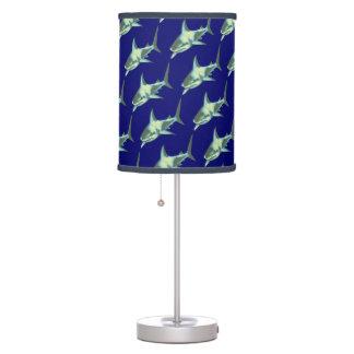 modelo de tiburones lámpara de escritorio