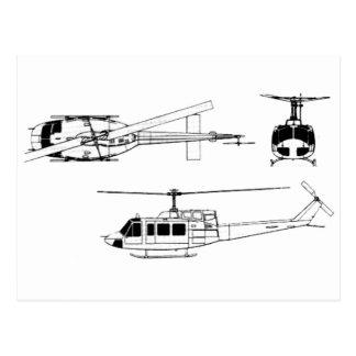 Modelo de UH1 Huey (Iriquois) Tarjetas Postales