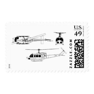 Modelo de UH1 Huey (Iriquois) Timbres Postales