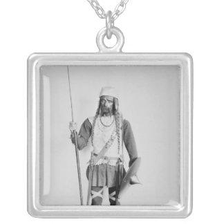 Modelo de un guerrero Frankish Collar Plateado